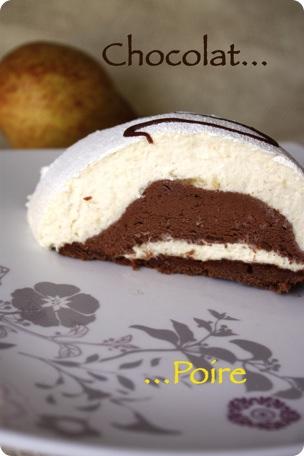 buche poire chocolat