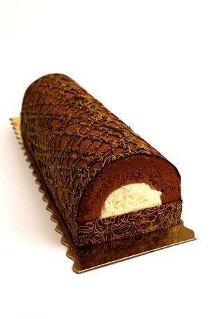 B che chocolat coeur de vanille au citron vert ligne for Buche a la mousse au chocolat