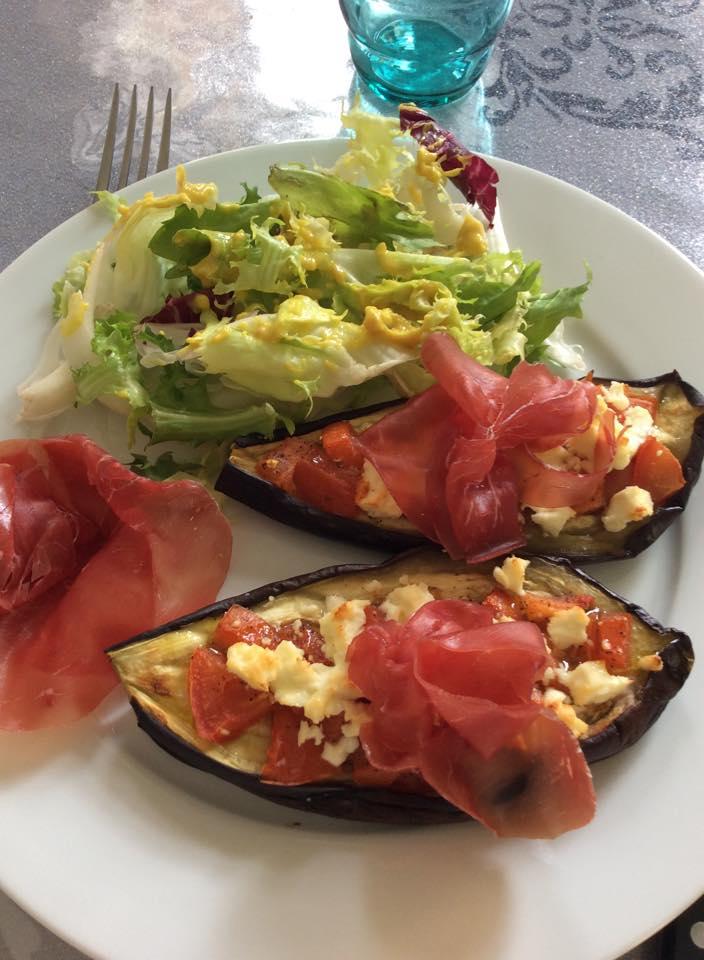 aubergine grillée féta